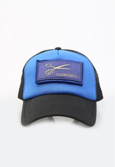 black and blue patch cap #handmade #cap #patch #vagrancylifestyle