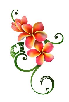 Plumeria+Tattoo+Drawings | Plumeria Tattoo by ~CoyoteHills on deviantART