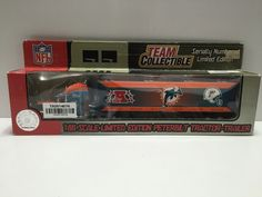 """(TAS014076) - NFL 1:80 Scale Limited Edition Peterbilt Tractor-Trailer """"Miami Do"""