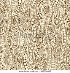 Hand drawn tribal ethnic pattern. Doodle background with doodles, flowers and mandalas.