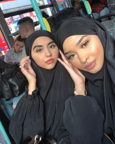 Hijab Styles 582442164289984540 - With my sis axs pins. Both of our jilbabs are from my fave place to get them from�� Source by Beautiful Muslim Women, Beautiful Hijab, Hijabi Girl, Girl Hijab, Arab Girls, Muslim Girls, Hijab Dress, Hijab Outfit, Abaya Fashion