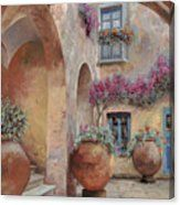 Le Arcate In Cortile Canvas Print