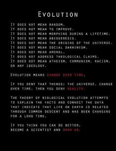 So tired of the misconceptions and social/political/religious misuse of the theory of Evolution.
