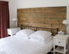 repurposed wood headboard