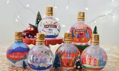 Here's an idea: Christmas ornaments, but fill them with vodka. Naturally, Smirnoff has done just that, with ornament-shaped vodka bottles. Holiday Ornaments, Christmas Tree Ornaments, Christmas Ideas, Christmas Globes, Christmas Gifts, Christmas Decorations, Christmas Carol, Pink Velvet Cakes, Alcohol Gifts