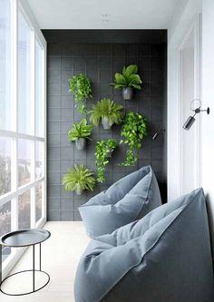 Small Balcony Design, Small Balcony Garden, Vertical Garden Design, Small Balcony Decor, Balcony Plants, House Plants Decor, Balcony Ideas, Garden Plants, Modern Balcony