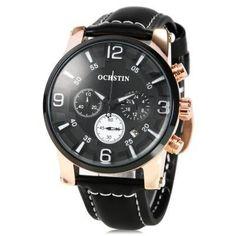 OCHSTIN 052D Men Working Sub-dial Quartz Watch-19.28 Cool Watches, Watches For Men, Men's Watches, Mobiles, Watches Online, Watch Bands, Chronograph, Quartz Watches, Watch Sale