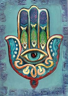 he Hamsa is an ancient The Hamsa Middle Eastern amulet symbolizing the Hand of God. In all faiths it is a protective sign. It brings its owner happiness, luck, health, and good fortune Hand Kunst, Hamsa Art, Afrique Art, Diy Broderie, Hand Of Fatima, Hippie Art, Jewish Art, Egyptian Art, Eye Art