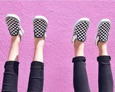 "Checkerboard Slip-Ons are ""Off The Wall""...Literally.   Photo by: NoorPhotography"