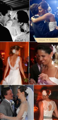 Bride Hair | Coque + Flores Bordadas