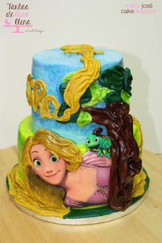 Tarta Rapunzel - Enredados Rapunzel Cake - Tangled www.tartasdelunallena.blogspot.com maria jose cake designer