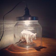 Lampe bocal ourson maisons du monde fait maison Diy Home Decor, Room Decor, Mason Jar Lamp, Light Decorations, Diy Art, Lamp Light, Diy Furniture, Playroom, Kids Room