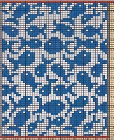 Here I Offer Only The Chart Pattern For A Potholder ; hier biete ich nur das diagrammmuster für einen topflappen an ; ici, je propose uniquement le modèle de graphique pour un manique Motif Fair Isle, Fair Isle Chart, Filet Crochet, Crochet Cats, Crochet Birds, Crochet Food, Crochet Animals, Knitting Charts, Knitting Stitches