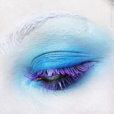 instagram.com/twigmakeup facebook.com/twigmakeup  colourful lashes, colourful eyelashes, purple eyelashes, violet eyelashes, blue make up, ice make up, vivid make up, bright make up, white eyebrows, editorial make up, artistic make up, creative make up, fashion make up, avant garde make up, eye art