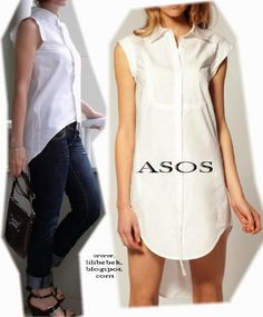 I choose sewing Copy Asos blouse with a man's shirt