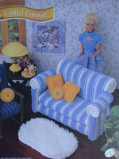Casual Comfort Living Room Set Crochet Pattern by PatternsAndSuch, $4.00