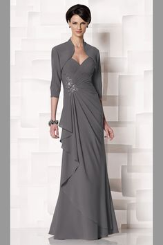 Details about Mother of the bride/groom dresses floor length ...
