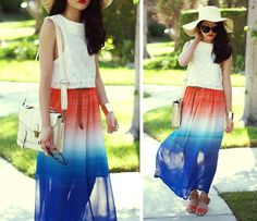 Blue me away (by Analisa Nguyen) i love the movement the skirt brings especially the pop of color !