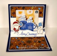 Season's Greetings Pop up Card by Stamp TV/Gina K Designs (2 of 2)