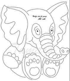 See the source image Card Patterns, Print Patterns, Stitch Patterns, Elephant Coloring Page, Rhinestone Art, String Art Patterns, Iris Folding, Paper Animals, Crystal Design