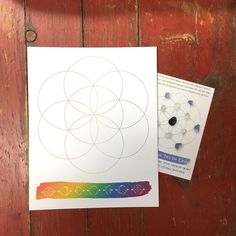Speak the truth Crystal Grid Info Card 4x6 & 8 x by The7Directions