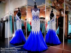 This sexy mermaid prom dress is a MUST HAVE! The beads, stones and jewels give a slimming effect to your silhouette. The beaded straps crisscross your open back, defines your midriff and shows off your shape. O.M.G. and it's at Rsvp Prom and Pageant, your source for the HOTTEST Prom and Pageant Dresses!
