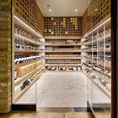 """I'm not sure if I love wine so much as the stunning spaces in which to store it! You have to admit, some of these would make anyone want to become a wine…"""