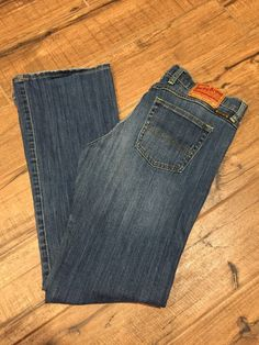 Lucky Brand Women's Size 8/29 (32x32) Mid Rise Flare Whiskers Lucky You! #LuckyBrand #Flare
