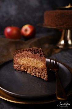 Apfel-Zimt Schokoladentorte - Maren Lubbe - Feine Köstlichkeiten Macarons, Winter Torte, Christophe Felder, Malu, Chef Recipes, Delish, Chocolate, Desserts, Food
