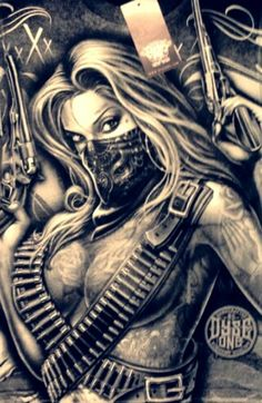 Steampung Girl Holding Skull Wallpaper 53 Best Bad Girls With Guns Images Raider Nation