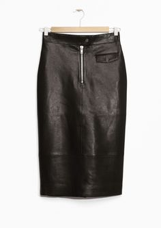 & Other Stories | Leather Pencil Skirt