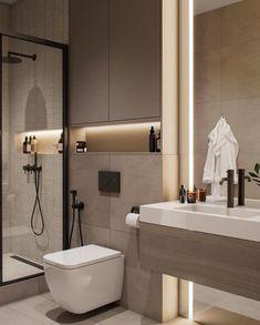 Modern Luxury Bathroom, Bathroom Design Luxury, Bathroom Layout, Modern Bathroom Design, Small Bathroom, Modern Toilet Design, Interior Design Toilet, Toilet And Bathroom Design, Bathrooms