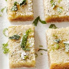 Pecan-Crusted Mojito Bars - @Gayle Robertson Roberts Merry Homes and Gardens