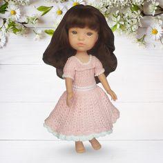 Вязаное ателье для кукол ростом 32-34 см. Одежда для кукол. Мастер классы и описания по вязанию одежды куклам. Вязаное платье Франсуаза для куклы Berjuan Doll Clothes, Dolls, Vintage, Style, Fashion, Moda, La Mode, Puppet, Doll