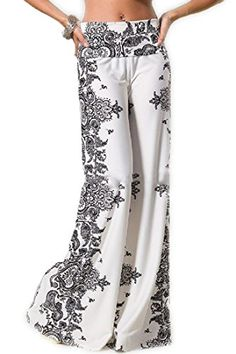 Fashion Forever Darling 878Ivory Paisley Wide Leg Yoga Palazzo Pants Misses (S) Fashion Forever http://www.amazon.com/dp/B00IMOT4XU/ref=cm_sw_r_pi_dp_xLIwub0W44CZQ