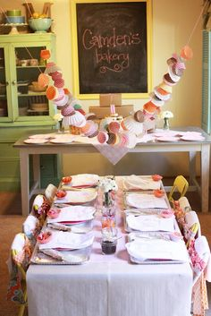 Decorate with cupcake liner banners