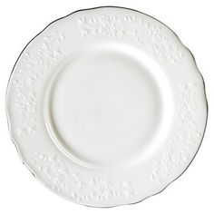 Check out this item at One Kings Lane! S/6 Silver Edge Vine Bread Plates