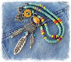 Tribal DREAMCATCHER necklace INSPIRATIONAL jewelry by GPyoga