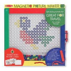 Magnetic Picture Maker Mosaic Set - Educational Toys Planet. Great gift for 4 years old child. Become a mosaic artist with Melissa & Doug's creative magnetic picture making craft. Develops Skills - creativity, manipulative skills, imagination. #toys #learning #educational #gifts #child https://www.educationaltoysplanet.com/magnetic-picture-maker.html