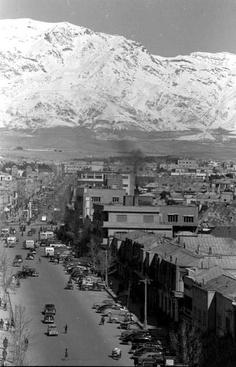 Postcard picture, northern Tehran, Iran 1950's black and white
