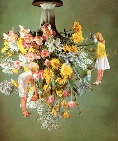 Catalina Schliebener, Flowers 3, 19 x 25 cm, collage de libros, 2011    Bisagra arte contemporaneo