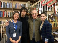 Klinger, Gaiman in the Twin Cities On November 2, Magers & Quinn Booksellers in Minneapolis hosted Leslie S. Klinger, on tour for his new book 'The New Annotated H.P. Lovecraft,' in conversation with Neil Gaiman. Pictured (l. to r.), Magers & Quinn manager Jessi Blackstock, Gaiman, Klinger, and Magers & Quinn events coordinator Ann Mayhew.