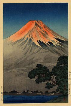 (Yamanaka Lake), by Koitsu, Tsuchiya, 1938