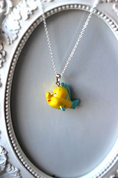 Disney Flounder from The Little Mermaid Necklace by SPS22 on Etsy, £3.99