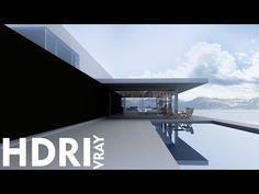 3D Max Exterior HDRI Vray Tutorial Photoshop 2016 - YouTube