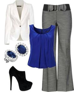 We have collected beautiful and stylish work outfits for spring and summer seasons. These outfits have attractive styles.These outfit ideas . Cute Work Outfits, Komplette Outfits, Office Outfits, Casual Outfits, Fashion Outfits, Office Attire, Office Wear, Dress Casual, Classy Outfits