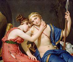 Jacques-Louis David Télémaque et Eucharis - 1818 huile sur toile *34,5 in x 40.5 in Musée Paul Getty - Malibu