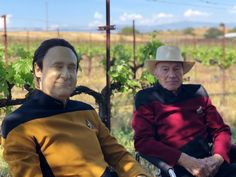 "Data and Jean-Luc. ""Picard"" is a wonderfully written series with brilliant new Star Trek characters. Star Trek 1, Star Trek Meme, Watch Star Trek, Star Trek Show, Star Trek Original Series, Star Trek Series, Tv Series, Star Trek Enterprise, Star Trek Images"