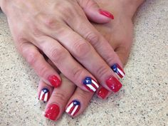 Puerto Rican Pride Finger Nails. In China, I once had my nails done in red, then on my right ring finger, I had the USA flag drawn/painted & on my left ring finger I had the PRC flag drawn. I honored both flags & both countries that way. I was an honorary citizen of China, & that is a honor not given to many foreigners!