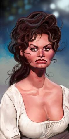 sophia loren caricature - Google Search